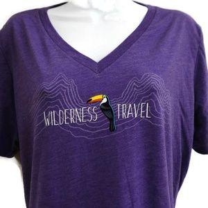 Wilderness Travel Tucan Purple Tee V